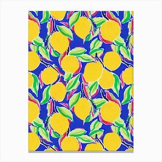Cobalt Lemon Canvas Print
