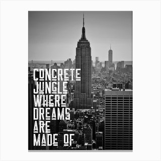 New York Lyric Canvas Print