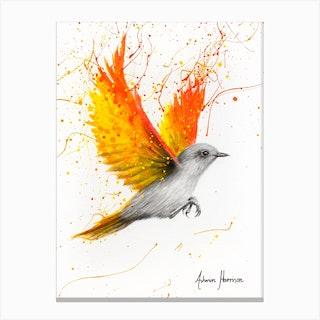 Citrus Star Bird Canvas Print