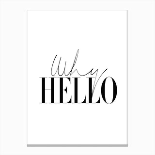 Why Hello Canvas Print