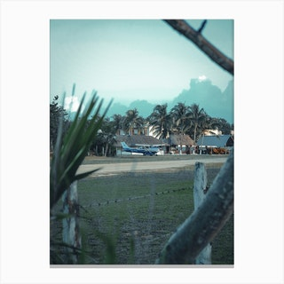 Airfield Amidst The Palms Mexico Canvas Print