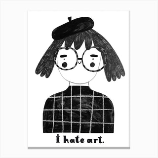 I Hate Art Canvas Print