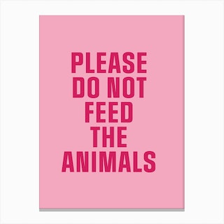 Feed The Animals Canvas Print