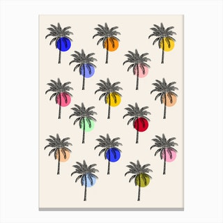 Tropical Trees Canvas Print