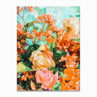 Blush Garden Canvas Print