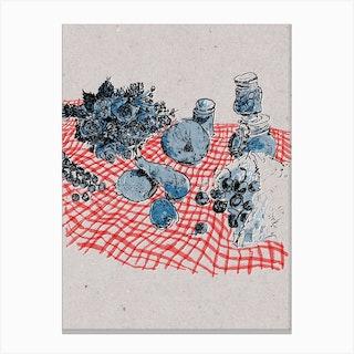 Picnic Still Life Canvas Print