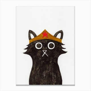 Wonder Cat Canvas Print
