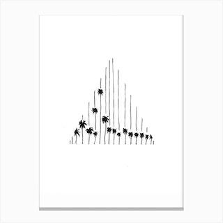Salt And Surf   Palmtree Triangle Canvas Print