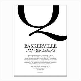 Baskerville Canvas Print