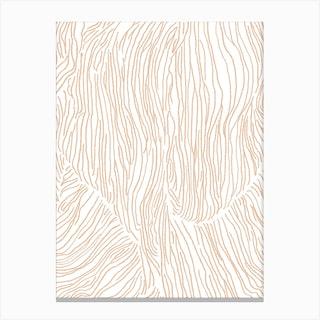 Abstract Lines In Beige Canvas Print
