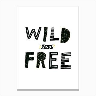 Wild And Free Dinosaur Canvas Print