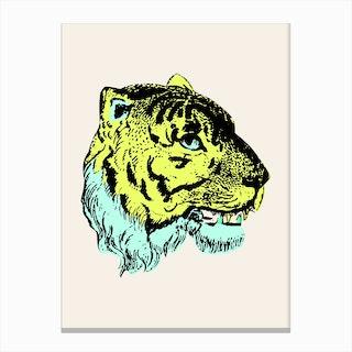 Green Tiger Canvas Print