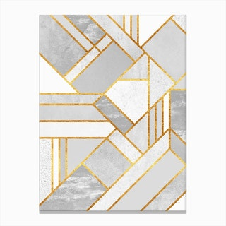 Gold City in Canvas Print