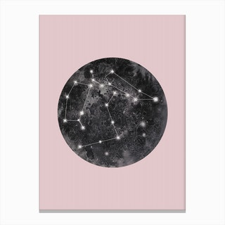 Constellation Pink Canvas Print