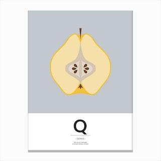 The Food Alphabet – Q Canvas Print