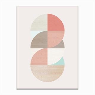 Wooden Circles Canvas Print