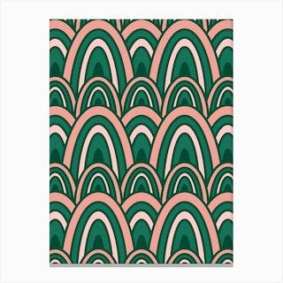 Rainbow Rows Thrive Canvas Print