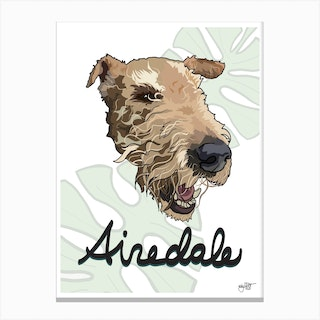 Airedale Dog Canvas Print