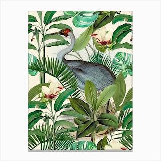 Tropical Heron Canvas Print