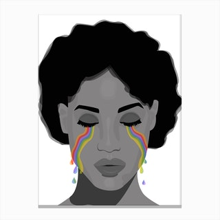 Cry me a Rainbow Canvas Print