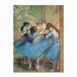 Dancers In Blue 1890 Canvas Print