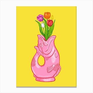 Gluggle Jug Tulips  Canvas Print