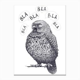 Owl Bla Bla Bla Canvas Print