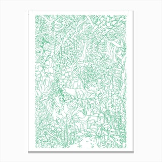Jungle Lovers Canvas Print