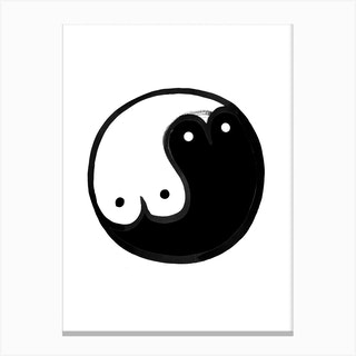 Boob Yin Yang Canvas Print