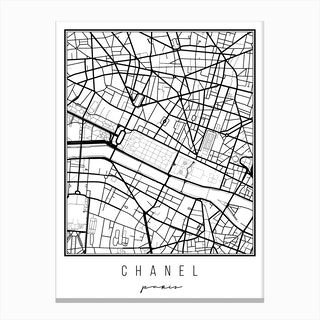Chanel Paris Street Map Canvas Print