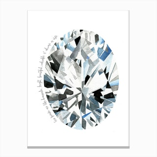 Oval Diamond Canvas Print