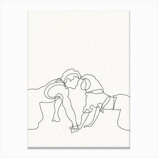 Dirty Dancing Outline Canvas Print