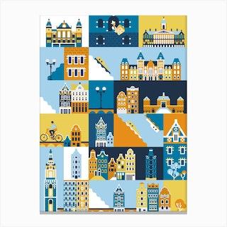 Amsterdam Pattern Canvas Print