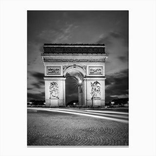 Paris Arc De Triomphe Canvas Print