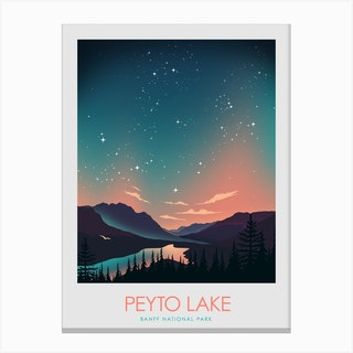 Peytolakebanff Canvas Print