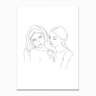 Relationships 52 Sisters Canvas Print