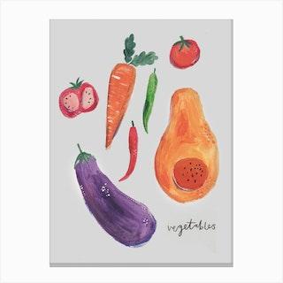 Autumnal Veggies Canvas Print