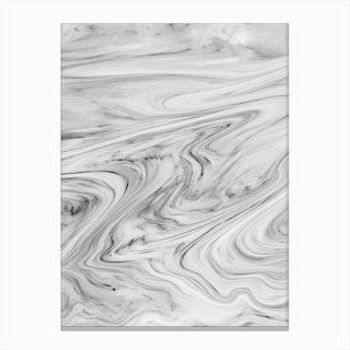 Black White Marble Canvas Print