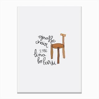 Giraffe Bo Bardi Chair Canvas Print