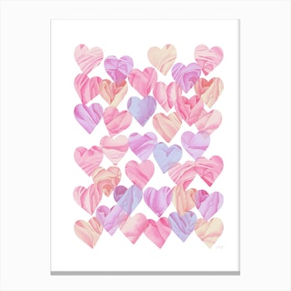 Love Hearts Canvas Print