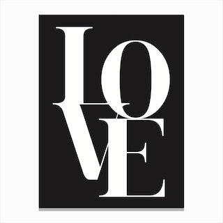 Love I Canvas Print