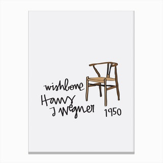 Wishbone Wegner Chair Canvas Print