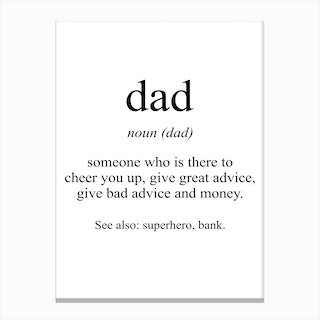 Dad Meaning Print Canvas Print