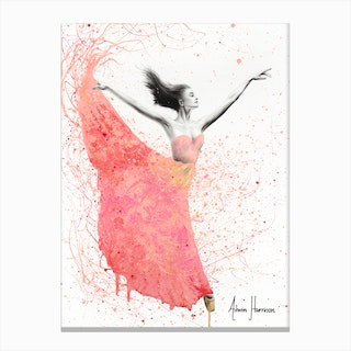 Rose Petal Dance Canvas Print