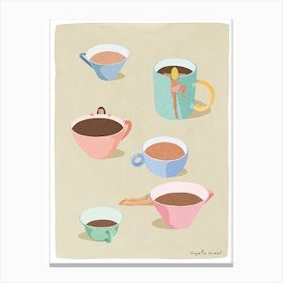 Coffee Girls Canvas Print