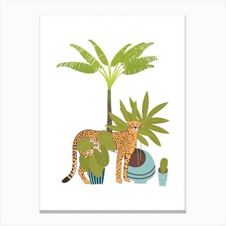 My Urban Jungle Cat 1 Canvas Print