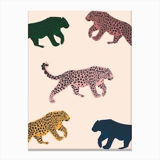 Rainbow Leopard Canvas Print