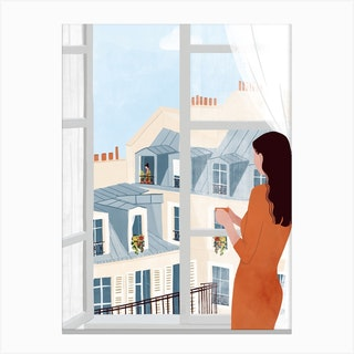 Window Gazing Canvas Print