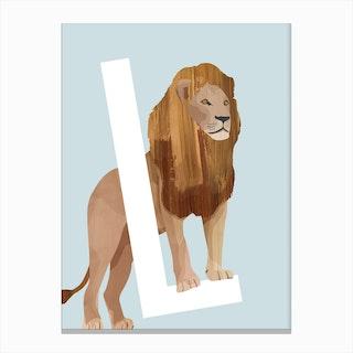 L Lion Canvas Print