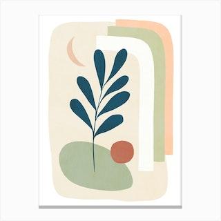 Earthy Tropical Foliage Blue 5 Canvas Print